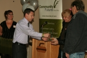 The 2012 Community Entrepreneur Award was shared by The Boundary Sentinel and Roger and Donna Soviskov of Jogas. Photo Erin Perkins.